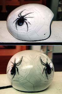 Cincinnati Makeup Artist Jodi Byrne Automotive Black Spider Helmet