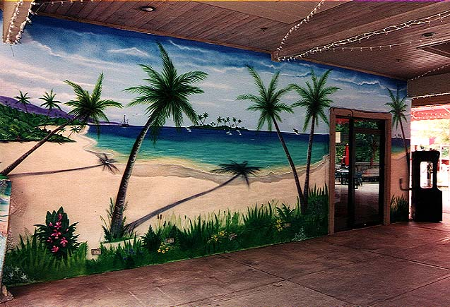 Beach Scene Wall Mural Nice Look